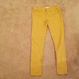 Love Fire Mustard Skinny Jeans